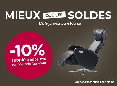 Soldes fauteuils relax : fauteuils et canapés à prix soldés